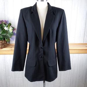 Vintage 90s DAILY HABIT Black Blazer Jacket Career
